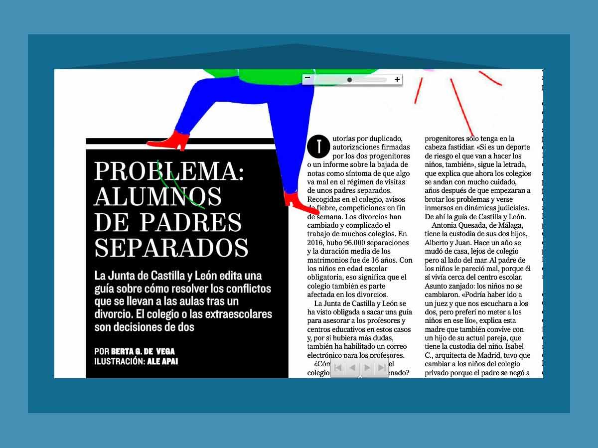 Vestalia participa en el reportaje Problema: alumnos de padres separados