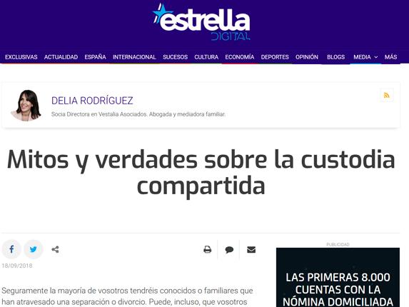 Nuestra Socia Directora, Delia Rodríguez,  en el periódico Estrella Digital.
