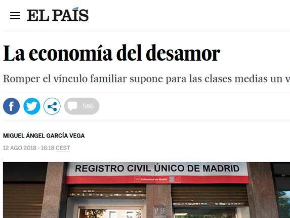 Nuestra Socia Directora, Delia Rodríguez, interviene en el periódico digital El País.
