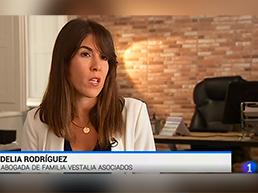 Nuestra Socia Directora, Delia Rodríguez, interviene en el telediaro de RTVE para hablar sobre pension compensatoria