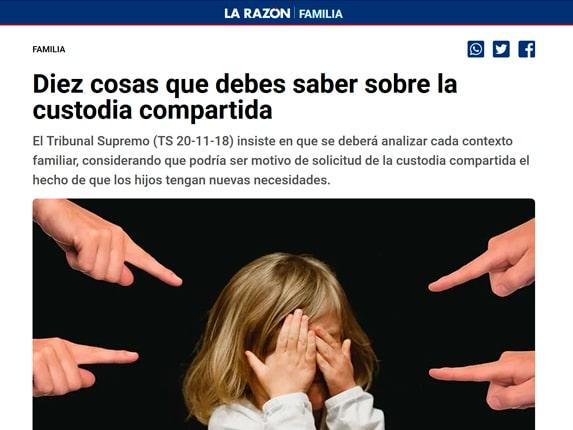 Diario La Razón Delia Custodia Compartida 2020