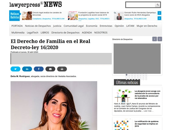 Delia en LawyerPress 2020