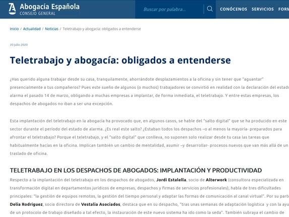 Reportaje Consejo General Abogacía Española