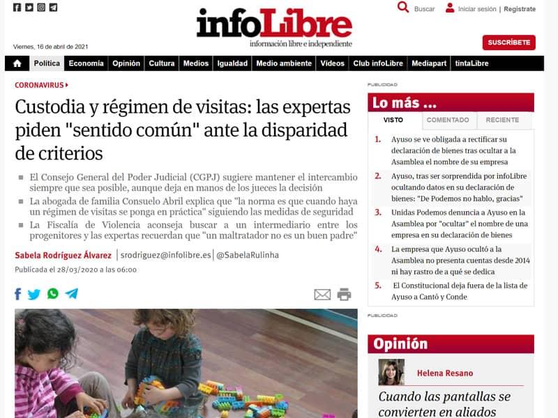 Intervención en reportaje de Infolibre