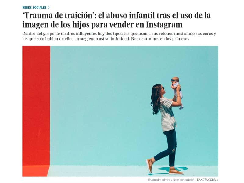 El abuso infantil tras el uso de la imagen de los hijos para vender en Instagram